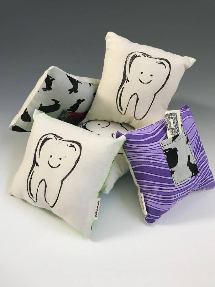 Block-Printed Tooth Fairy Pillow