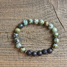 Load image into Gallery viewer, African Turquoise Aromatherapy Essential Oil Diffuser Bracelet (8mm beads)