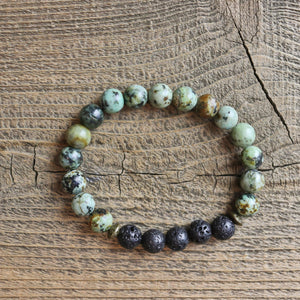 African Turquoise Aromatherapy Essential Oil Diffuser Bracelet (8mm beads)