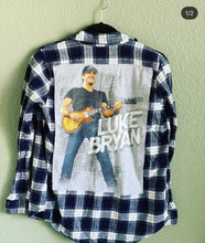 Load image into Gallery viewer, Luke Bryan flannel shirt
