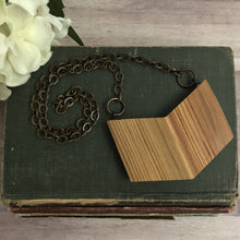 Load image into Gallery viewer, Vintage Barn Wood Extra Large Chevron Necklace
