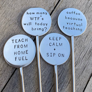 Back To School Coffee Stirrer Set