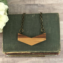 Load image into Gallery viewer, Vintage Barn Wood Large Chevron Necklace