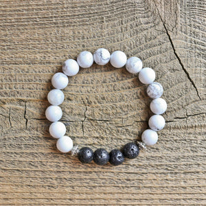 Howlite Aromatherapy Essential Oil Diffuser Bracelet