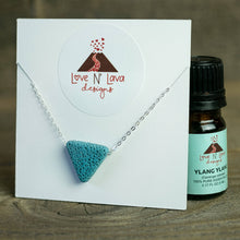 Load image into Gallery viewer, Triangle Lava Stone Essential Oil Diffuser Necklace