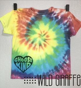 TIE DYE Choose Kind Youth Tee