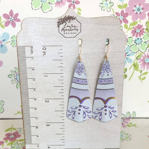 Recycled Tin Earrings- Lavender Fields 6