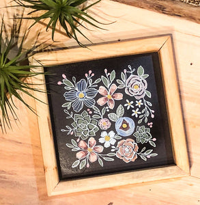 Abstract Floral Chalk Art