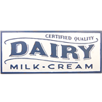 Dairy Metal Sign