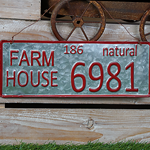 Farm License Plate sign