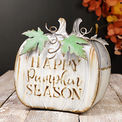 Happy Pumpkin Season Metal Container