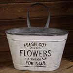 Fresh Cut Flowers Wall Container w/Handle