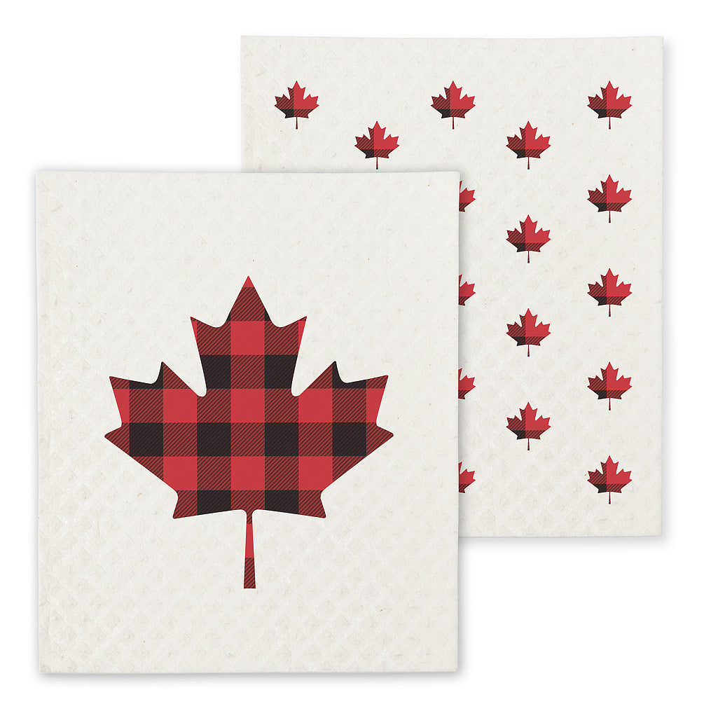 Swedish Dishcloth set of 2 - Maple leaf