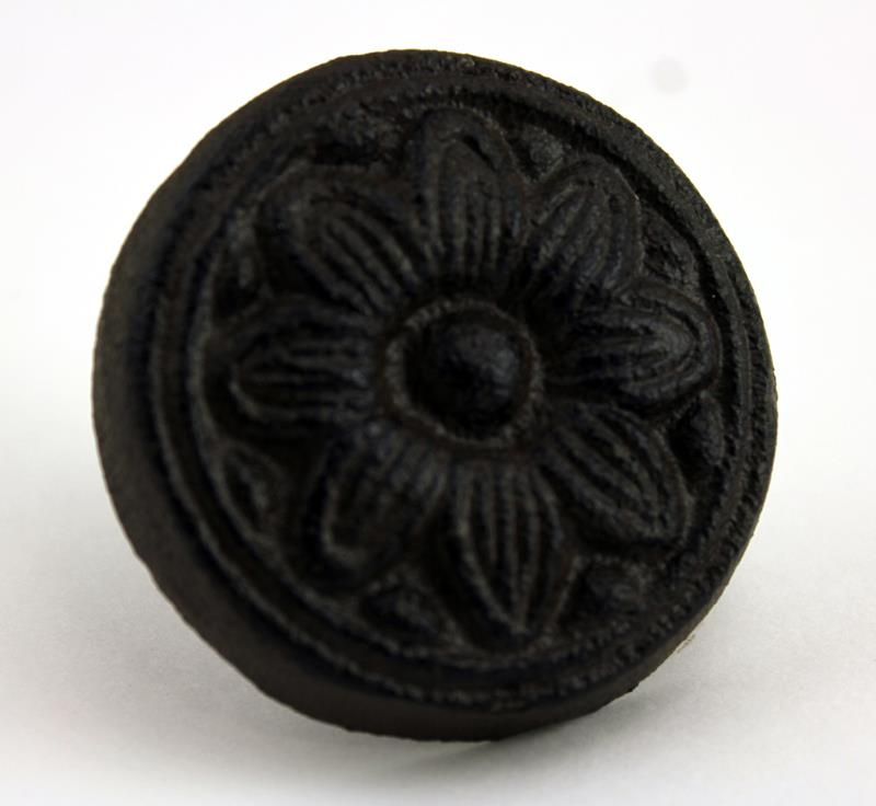Floral Embossed Cast Iron Knob