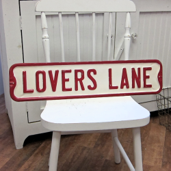 Lovers Lane Road Sign