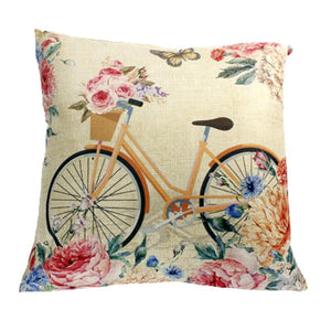 Florals with Bike Cushion