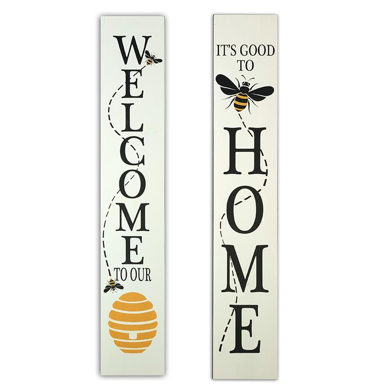 Reversible Bee Porch Sign