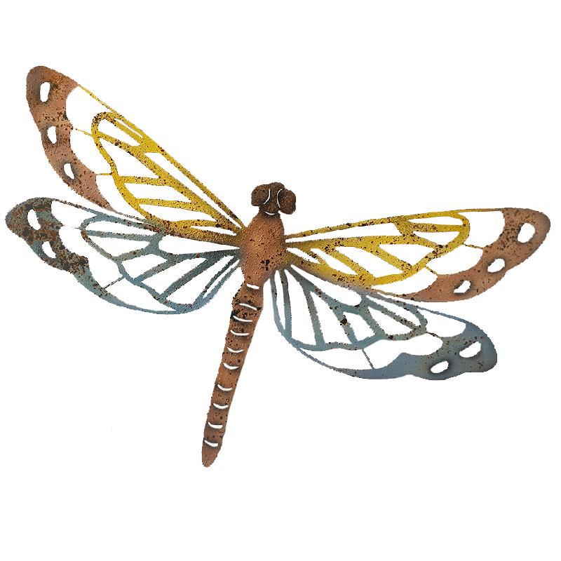 Dragonfly Wall Art- Rustic Colourful