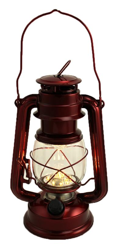 Dimmable LED Lantern - Metallic Red