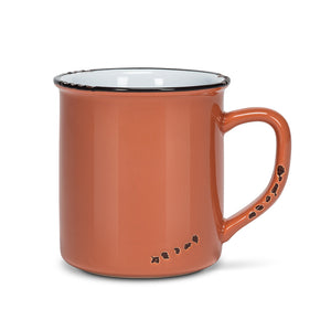 Enamel Look Terracotta Mug