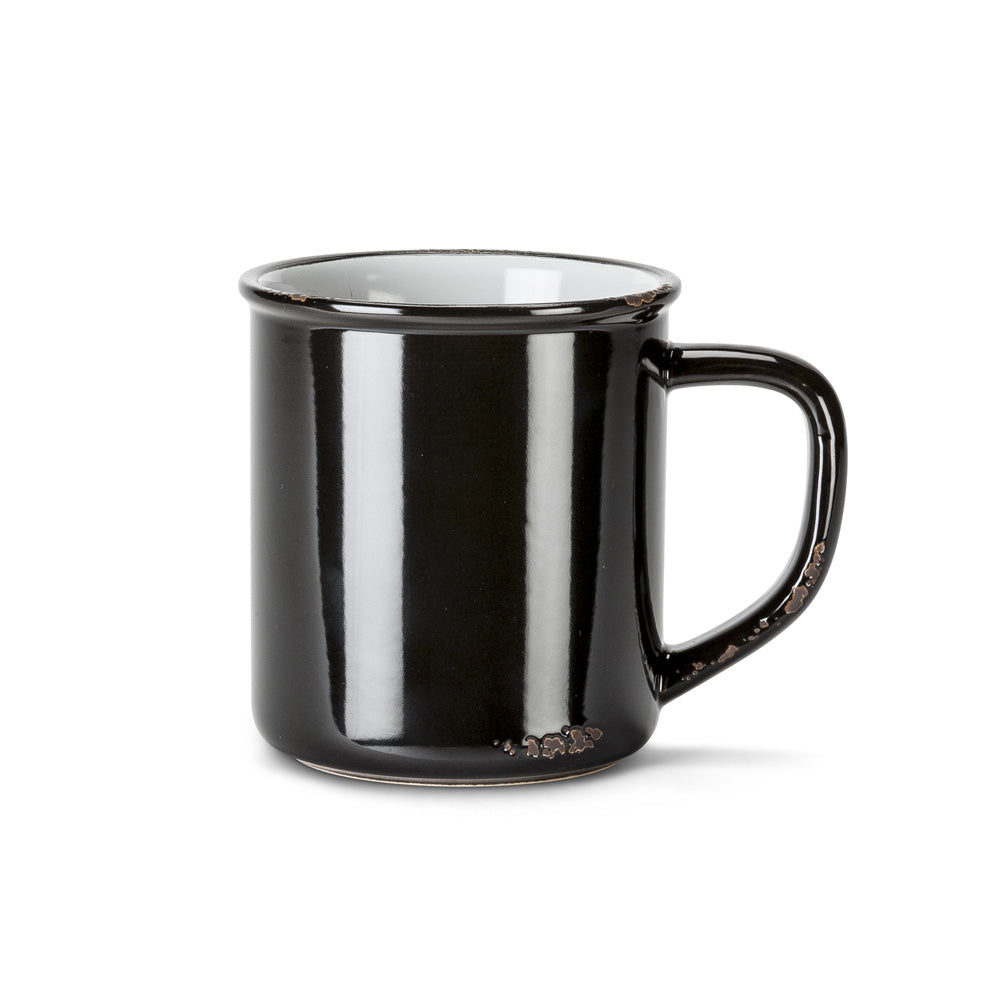 Enamel Look Black Mug