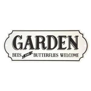 """Garden - Bees and Butterflies Welcome"" sign"