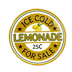 Round Lemonade Sign