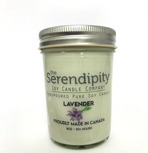 Lavender Scent 8oz soy candle