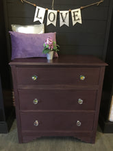Load image into Gallery viewer, Merlot Dresser w/Crystal Knobs
