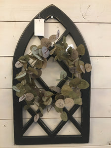 Black Distressed Cathedral Arch