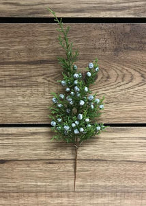 Winter Stem: Juniper Spray 12""