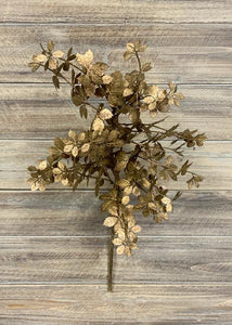 Winter Stem: Copper Metallic Leaves 22""