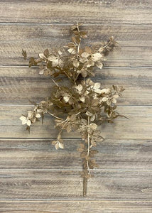 Winter Stem: Gold Metallic Leaves 22""