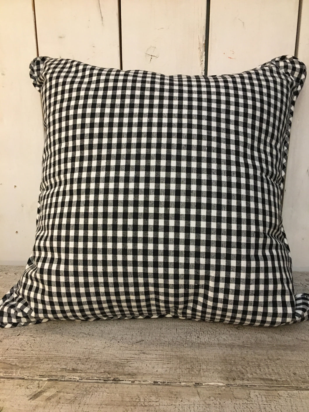 Black and White Check Cushion