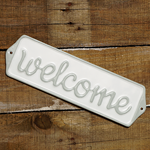 Welcome (grey) Street Sign