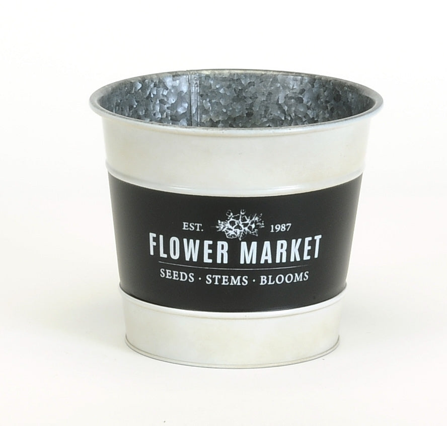 Flower Market Metal Pot