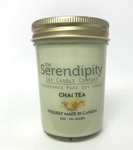 Chai Tea Scent 8oz soy candle