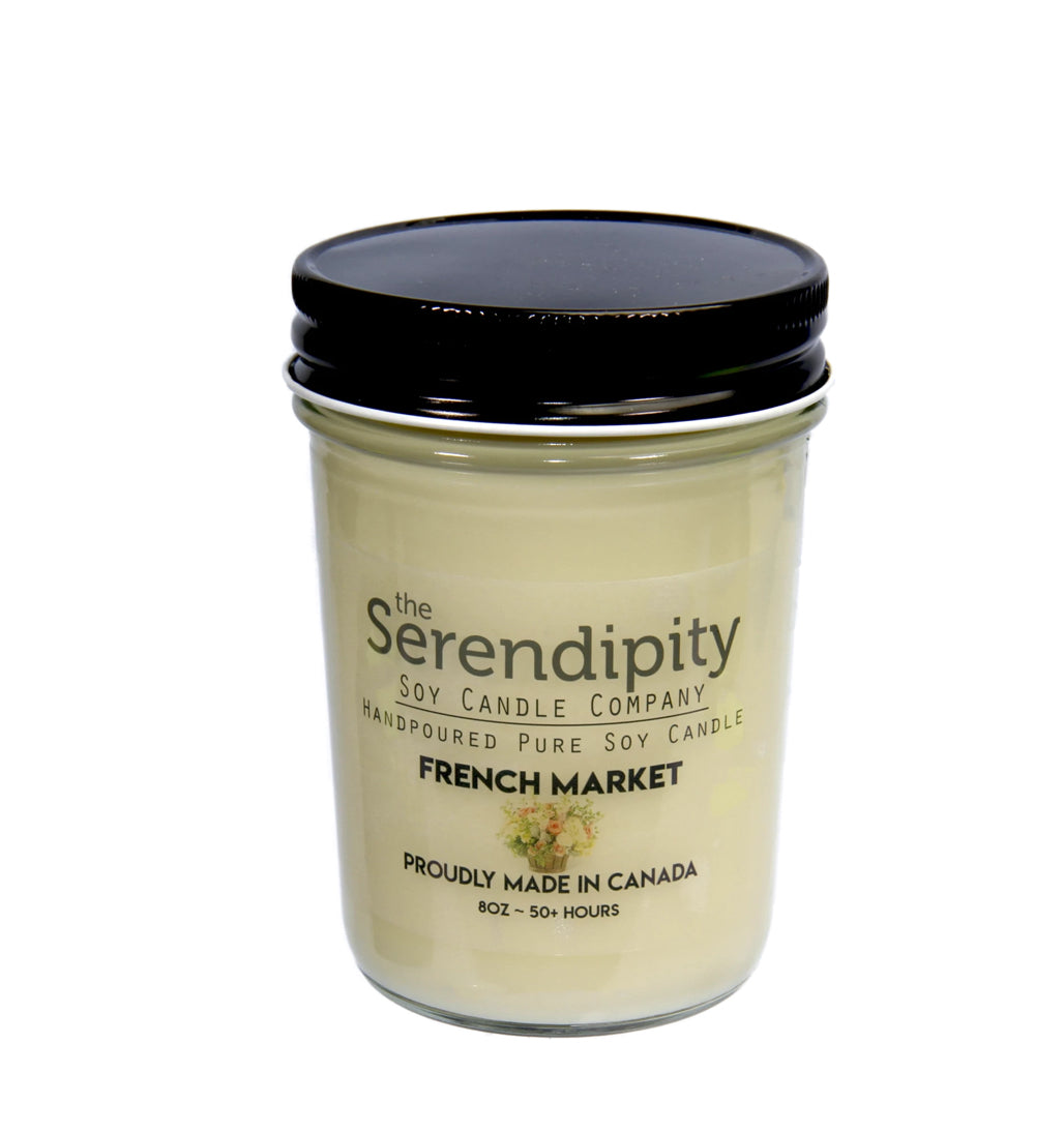 French Market Scent 8oz soy candle