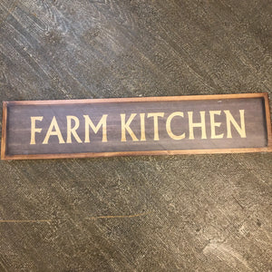 Farm Kitchen Framed Wood Sign