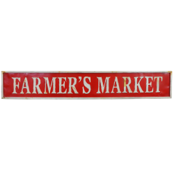 Farmer's Market Embossed sign