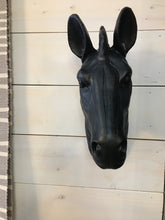 Load image into Gallery viewer, Matte Black Horse Head Wall Decor