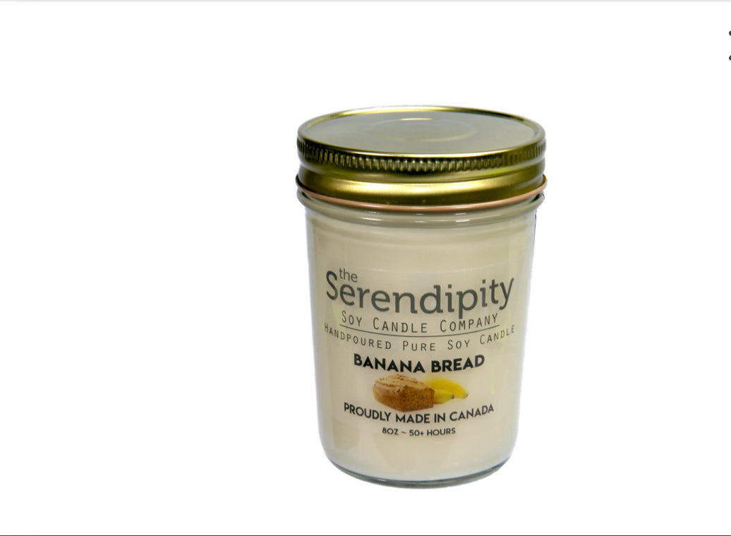 Banana Bread Scent 8oz soy candle