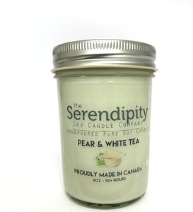 Pear and White Tea Scent 8oz soy candle