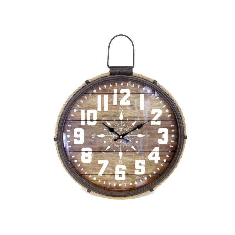 Compass Motif Wall Clock