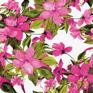 Pink Flowers Paper Napkins