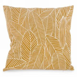 Mustard Yellow Foliage Cushion
