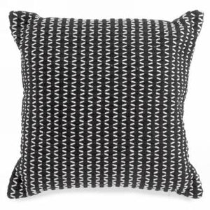 Black Weave Motif Cushion