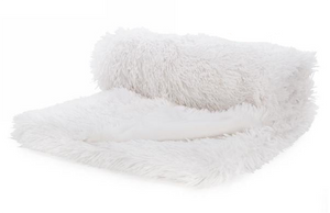 White Soft Faux Fur Throw
