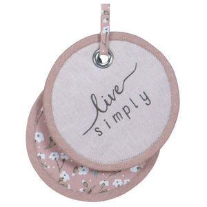 Live Simply Pot Holder Pink/Round