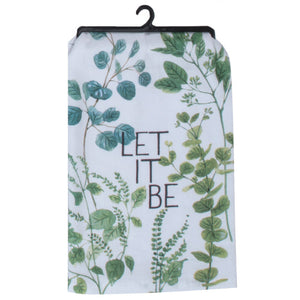 Let it Be -Greenery Flour Sack